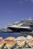 Conch eye view of cruise ships, Nassau, Bahamas