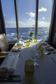 View from a table in the Pinnacle Grill, on board the Nieuw Amsterdam, Bahamas