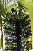 Bottle tree sculpture at Bahama Barrels, Nassau, Bahamas