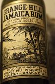 Vintage rum bottle in the Museum, Nassau, Bahamas