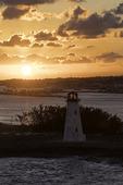 Lighthouse at sunrise over Nassau, Bahamas
