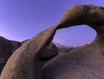 Mobius Arch and Mt. Whitney at sunrise, Alabama Hills, California