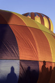 Shadow people at the Lake Havasu Balloon Fiesta, Lake Havasu City, Arizona