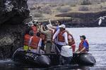 Zodiac tour of Buccaneer Cove, Santiago Island, Galapagos, Ecuador