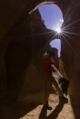 Kerrick James shoots Peek-A-Boo slot canyon, Dry Fork Coyote, Grand Staircase Escalante National Monument, Utah