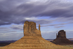 Mittens at sunset, Monument Valley, Arizona
