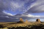 Mittens at sunset, Monument Valley, Arizona