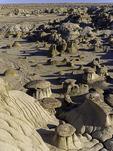 Erosion designs in Ah-Shi-Sle-Pah, Bisti Badlands, New Mexico