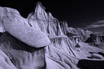 Erosion designs in Ah-Shi-Sle-Pah, Bisti Badlands, New Mexico
