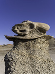 """""""Dino skull"""" natural sculpture in the Cracked Eggs Nursery, Bisti Badlands, New Mexico"""