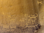 Petroglyphs at Una Vida, in Chaco Canyon NHP, New Mexico