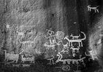Petroglyphs at Una Vida, in Chaco Canyon NHP, New Mexico