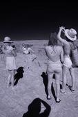 Tourists revel over Horseshoe Bend, Page, Arizona