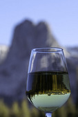 Chardonnay and Castle Crag, Mammoth Lakes, California