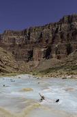 Chilling in the Little Colorado River above Confluence, Grand Canyon National Park, Arizona