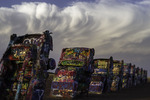 Late afternoon at the Cadillac Ranch, Amarillo, Texas