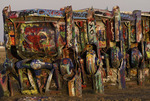 Sunrise on the Cadillac Ranch, Amarillo, Texas
