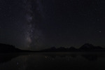 The Milky Way in June, above Jackson Lake, Grand Teton NP, Wyoming