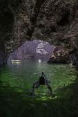 Snorkeling in Emerald Cave, Colorado River in Black Canyon, Arizona