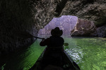 Kayaking in Emerald Cave, Colorado River in Black Canyon, Arizona
