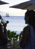 Cocktail hour at La Cabane restaurant, Batts Rock Bay, St. Michaels, Barbados
