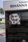 Rihanna tribute, Bridgetown, Barbados