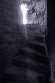East Tower staircase in the Tantallon Castle, North Berwick, Scotland