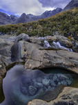 One of the Fairy Pools, below the Black Cuillins, Glenbrittle, Isle of Skye, Scotland
