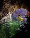 Kayaking in Emerald Cave, on the Colorado River in Black Canyon, Arizona