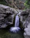 Mescal Creek waterfall, next the Gila River in the Needle's Eye Wilderness, Arizona