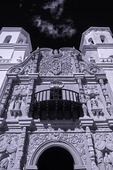 Facade of Mission San Xavier del Bac, Tucson, Arizona