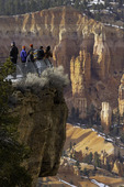 Tourists at Bryce Point, Bryce Canyon National Park, Utah