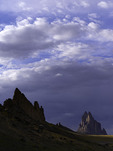 Late light on Shiprock, New Mexico