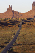 Highway 163, looking south towards Monument Valley, Utah