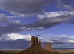 The Mittens in late afternoon, Monument Valley, Arizona