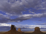 The Mittens and Merrick Butte in late afternoon, Monument Valley, Arizona