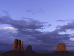 The Mittens and Merrick Butte at sunset, Monument Valley, Arizona