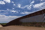 Border wall, Palominas, Arizona