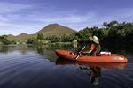 Kayaking the Salt River below the Bulldog Cliffs, Arizona