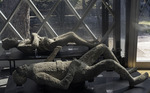 Victims of the A.D. 79 eruption of Vesuvius on display in Pompei, Italy