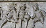 Frieze of the Gladiators, Colosseum, Rome, Italy