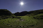 The labyrinth circle at Fairy Glen, Isle of Skye, Scotland