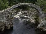 The Old Packhorse Bridge dates from 1717, Carrbridge, Cairngorms, Scotland