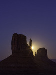 Hunter's Moon rising behind the West Mitten, Monument Valley, Arizona