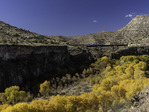 Verde Canyon Railroad, running the SOB trestle above the Verde River in autumn, Arizona