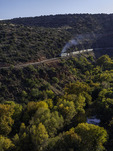 Verde Canyon Railroad, running above the Verde River, Arizona