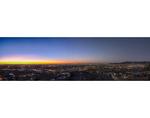 Pre-dawn glow over El Paso and Cuidad Juarez