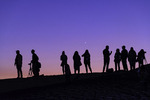 Photographing the Samalayuca Dunes at sunset, northern Chihuahua, Mexico