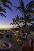 Party setting on the beach at the Mozzamare BeachClub, Riviera Nayarit, Mexico