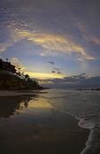 Sunrise light on beach below the Marival Armony, Riviera Nayarit, Mexico